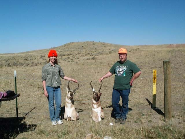 My and my Wifes Wyoming Pronghorns