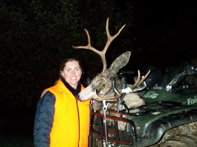 Wifes 2004 4x4 Mule Deer Shot 2nd day into the season in central Utah with her 30-06.