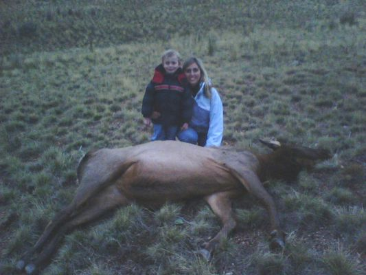 Wife Heathers first Elk, a cow