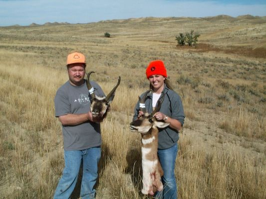 Mine and wifes 2005 Wyoming Pronghorn