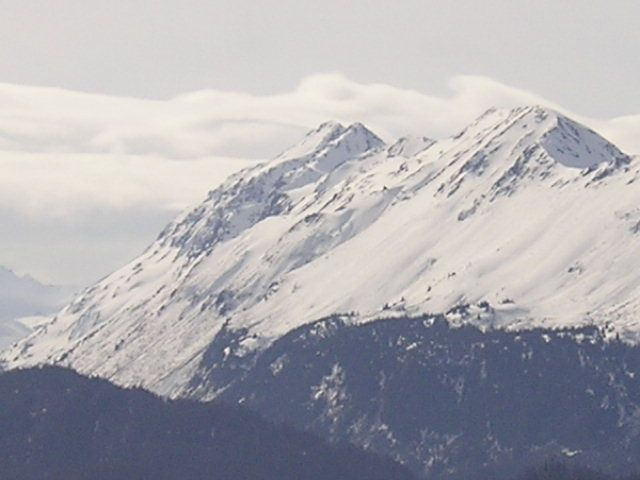 Alaska Mtn. View of glacier from the