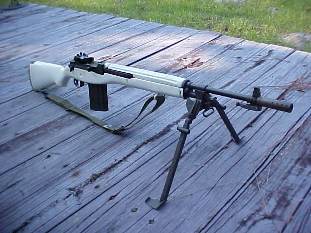 M14 Snow Rifle M14 in white stock Keywords: M14 M1A