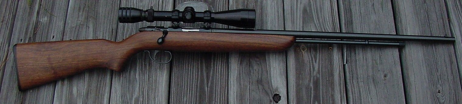 My First Rifle This 512 was given to me on my 9th birthday. The scope rails were cut by Dick Riley of Hookset, NH who would later become the president of the NRA. I worked part time in Dick's shop when I was in high school.