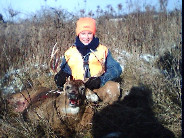 Nick's first buck!! Nick took thid big 10 pointer on his first licensed deer hunt with one shot from his 20 gauge 870 Rem!!!!