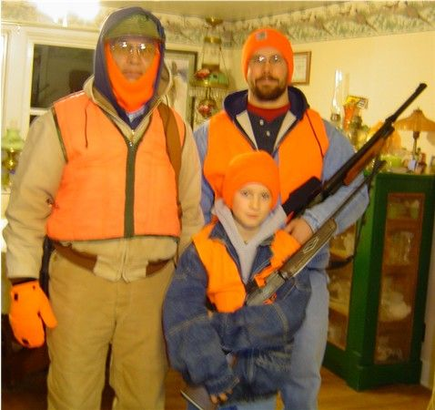 Nicks first deer hunt 2006 My 10 year old grandson, dad and grampa opening day 2006