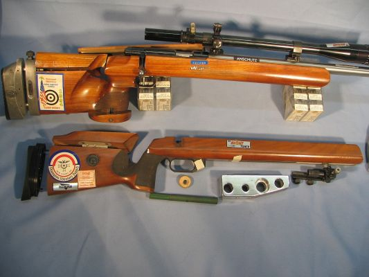 Target Rifles model 54 free rifle and prone stock.  stoots 10 round groups of 5/16 at 100 yards Keywords: target 22