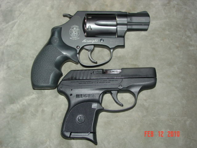 LCP and Snubby  Ruger LCP in .380 Auto with a S&W 431 in .32 H&R Magnum