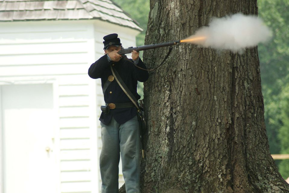 Click to view full size image  ==============  Latta 1  Civil War reenactment at Latta Plantation.