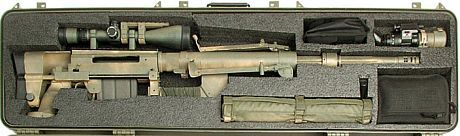 CheyTac Intervention M200 rifle in the carrying case  Keywords: Cheytac Cheyenne Tacticals m200 sniper