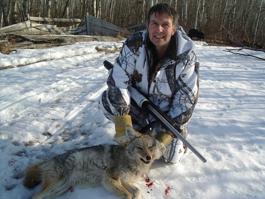 Click to view full size image  ==============  Back Yard yote This one died in my backyard at 100 yds.